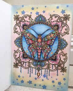 Stained glass butterfly is the star of the show  Wow this took longer than…