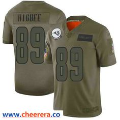 Nike Los Angeles Rams #89 Tyler Higbee Camo Men's Stitched NFL Limited 2019 Salute To Service Jersey