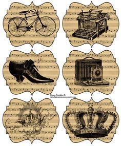 Gratuite Vintage imprimable jeudi
