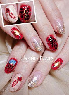 Elegant Chinese Nail Art Designs & Ideas 2014