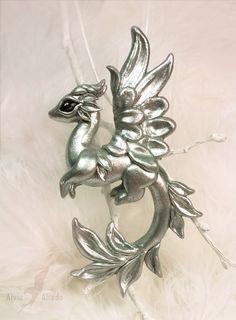 Silver dragon by AlviaAlcedo.deviantart.com on @DeviantArt