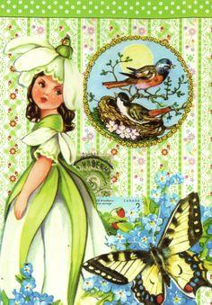By Kris Collage Postcard Kawaii Stationery, Princess Zelda, Disney Princess, Color Card, Travelers Notebook, Cute Cards, Sweet Girls, Postcard Size, Art Journals