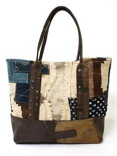 J. Augur Navajo / Vintage Canvas / Vintage Leather tote. c. 2012