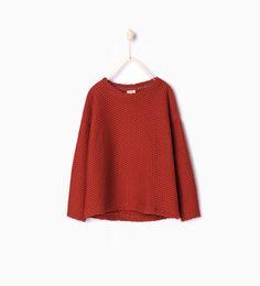 Textured sweatshirt-Sweatshirts-Girl | 4-14 years-KIDS | ZARA United States