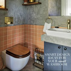 A luxury washroom is not defined by the area it covers, but the style details it embodies. Hence, if you've always dreamed of a luxurious washroom but feared your small space didn't allow it: fret not! Redecorating a small washroom as per your dreams is a seamless possibility - the key is using the limited space efficiently. Whether it's the modern minimal style you like or a raw and dark look, bringing your washroom dreams to life is easy and, perhaps, easier with these ideas that we have…