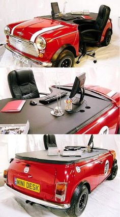 """mini cooper desk Hella PIMP!!!""- previous pinner. I add to that the Nor*Cal Version! HECKA PIMP!"