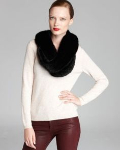 Maximilian Knitted Mink Infinity Scarf  Bloomingdale's