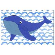 Whale Canvas Print, Oliver Gal