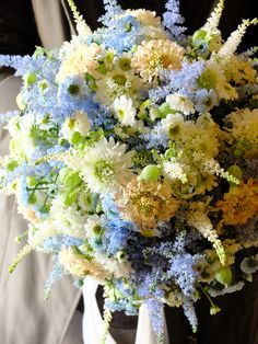 scabiosa and astilbe