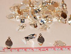 Qty 10 5 pair Clip-On Earring back Findings Charm by SoRRoGlass $3.50 #DIY #SoRRoGlass #JewelryMaking