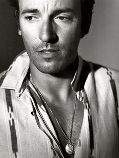 "Bruce Springsteen, photographed by Bruce Weber. Had a friend turn me on to ""The Live, the Innocent and the E Street Shuffle."" Saw my first show in 1975 and loved him ever since. Realized a dream with I took my 20-year-old daughter to see him at Fenway Park this year. When I grow up, I want to be Bruce Springsteen."