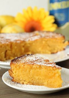 Grain-free Italian Lemon Cake (Torta Caprese Bianca) - made with almond flour and full of lemony goodness!