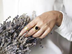 Hexagon Onyx Ring For Women Gemstone Ring Statement Ring Minimalist Earrings, Minimalist Jewelry, Minimalist Style, Druzy Jewelry, Gemstone Rings, Gold Plated Rings, Silver Rings, Onyx Ring, Hexagon Shape