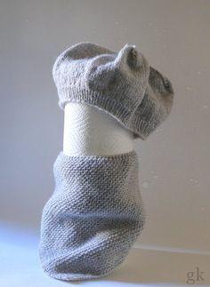 gkkreativ: Baby Baskenmütze und Dreiecktuch