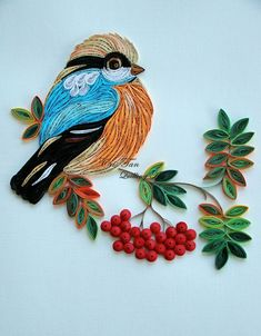 Paper Quilling Birds Designs And Quilling Butterfly, Arte Quilling, Paper Quilling Flowers, Quilling Work, Paper Quilling Jewelry, Paper Quilling Patterns, Quilled Paper Art, Quilling Paper Craft, Paper Quilling For Beginners