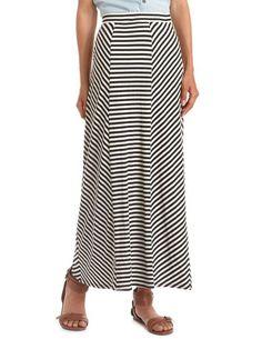Pieced Stripe Maxi Skirt: Charlotte Russe
