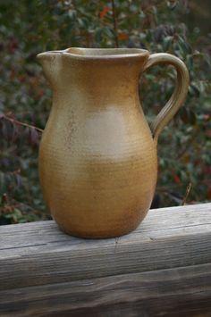 Salt Glazed Pottery Pitcher NC Pottery by Beaverspottery on Etsy, $30.00