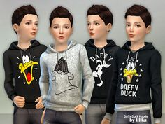 Daffy Duck Hoodie Found in TSR Category 'Sims 4 Male Child Everyday' The Sims 4 Pc, Sims 4 Teen, Sims Four, Sims 4 Toddler, My Sims, Toddler Boys, Sims 4 Cc Kids Clothing, Kids Clothes Boys, Sims 4 Mods