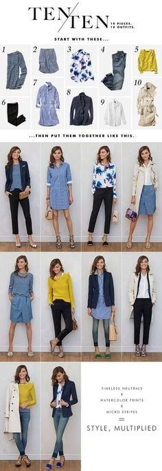 With a little creativity, remixing a work capsule wardrobe is a cinch. #womenworkoutfits