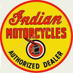 AUTHORIZED ARIEL MOTORCYCLE DEALER OVAL METAL SIGN.VINTAGE MOTORCYCLES.