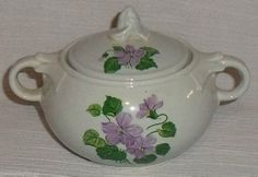 Taylor Smith Taylor Luray Lu-Ray Pastels CHATHAM GREY Gray Lidded Sugar Bowl