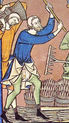 Peasant Clothing  Detail from Maciejowski Bible, Folio 12 Verso. Produced c. 1250 for King Louis IX of France.