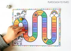 Activity for ages 5 to 8. Practicingsight words just got so much more fun! As kidsrace to reach the rainbow first, they read, write and spelltheir sight words along the way. Sneaky learning is the best, isn't it?! Grab your free copy below and then hop over and snag our complete editable board game pack …
