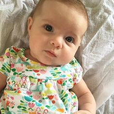 Sporting her Elephantasia Outfit and looking soo cute. Check out those lashes. @jennishouston #zutano #uniqueasyourbaby #comfy #colorful #allinone