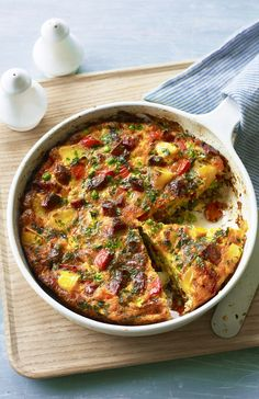 chorizo frittata Dinner today or lunch tomorrow- a chorizo packed frittata is going to save the day.Dinner today or lunch tomorrow- a chorizo packed frittata is going to save the day.