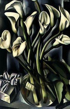 Vase d'Arums, par Tamara de Lempicka