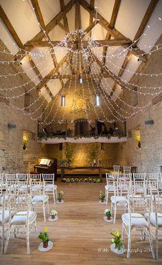 Hannah & Jason marry at the Great Tythe Barn, Tetbury... | Nikki Kirk Photography