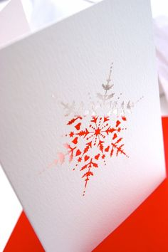 Laser cut snowflake Christmas cards.