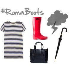 Don't let the wet weather frump your outfit down! Throw on your favorite Roma Boots, grab your umbrella and go in style!