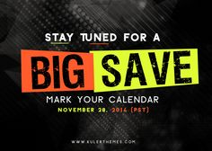 A BIG SALE is coming! Mark your calendar on November 28th, 2014 (PST) Our upcoming sale is surely for all those hunting for top-quality OpenCart themes at a super discount. Something BIG and we mean really BIG is happening soon for 4 days from November 28th, 2014 (PST). Make sure that you bookmark our website and mark your calendar now as you do not want to miss out on this incredible promotional sale! Please share this news to your friends who can will be interested in KulerThemes.