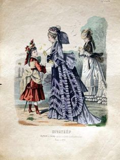 Victorian Young Girls Clothes | Promenade dress for women and girls, 1874 Austria-Hungary (modern-day ...