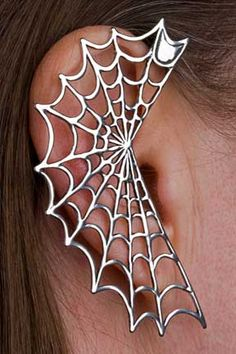 Marty Magic Store - Spider Web Ear Wrap Silver, $139.00 (http://www.martymagic.com/products/Spider-Web-Ear-Wrap.html)
