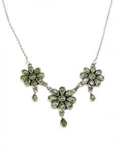 Silver & Peridot Neckpiece - Available at Onyx Goldsmiths