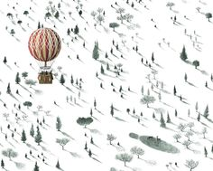 Travel By Balloon 8X10 print by CassiaLupo on Etsy