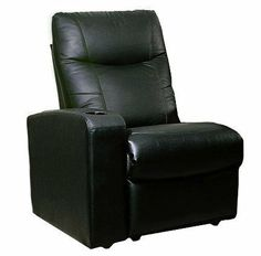 "Extension Seat Theater Recliner by Coaster Home Furnishings. $601.47. Ship out within 0-2 business days. This is an oversized item and will be delivered Curbside only.. Sofas and Sets - Home Theater Seating. Dimension: 30""l 37-3/4""w 40-3/4""h. Brand New in Original Box. Assembly required. Showtime Collection Black Leather Home Theater Extension Sofa Seat. Showtime Collection Black Leather Home Theater Extension Sofa Seat This is a brand new Showtime Collection bl..."