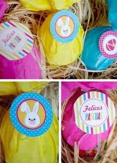 Imprimibles y cesta para huevitos de Pascua. | Hazlo Especial