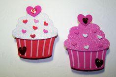 Die Cut Foam Valentine CupCake Tag Card Topper by Paperquick, $3.00 Kids Crafts, Summer Crafts, Diy And Crafts, Arts And Crafts, Paper Cupcake, Cupcake Party, Diy Paper, Paper Crafts, Foam Sheet Crafts
