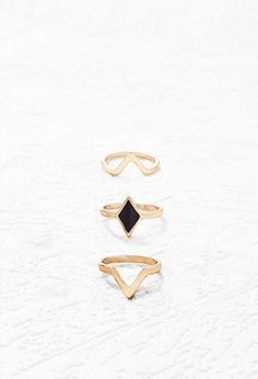 Cutout Geo Ring Set | Forever 21 - 1000142824