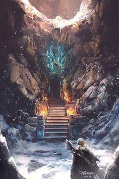 Cave...., Roland Sanchez on ArtStation at https://www.artstation.com/artwork/rOdKm