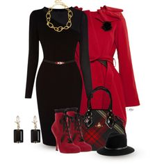 """Red & Black 2"" by passion-fashion-2 on Polyvore"
