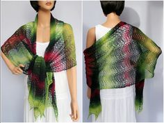 Strickanleitung - Lace-Tuch für Anfänger - es kann sexy zur Sommerparty, edel zum kleinen Schwarzen oder lässig als Schal im Alltag getragen werden https://www.crazypatterns.net/de/items/5100/lace-tuch-fuer-anfaenger