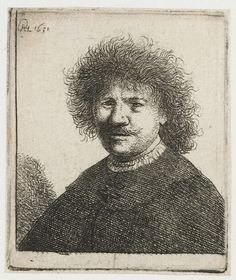 Self Portrait in a Cloak with a Falling Collar, 1631 by Rembrandt van Rijn on Curiator, the world's biggest collaborative art collection. Rembrandt Etchings, Rembrandt Self Portrait, Rembrandt Drawings, Digital Museum, Scratchboard, Dutch Painters, Collaborative Art, Gravure, Caricatures