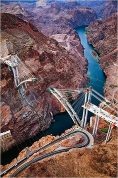 COLORADO RIVER BASIN -- Colorado River Bridge - An Engineering and Construction Marvel | James Stillings, New York Times