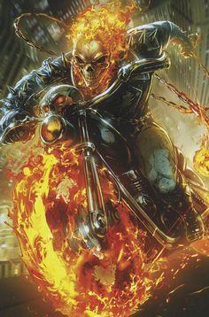 Cosmic Ghost Rider Marvel Comics Battle Lines Maxx Lim Variant Ghost Rider Marvel Comic Character, Comic Book Characters, Marvel Characters, Ghost Rider Johnny Blaze, Ghost Rider Marvel, Ghost Rider Wallpaper, Marvel Wallpaper, Ghost Rider Drawing, Ghost Rider Tattoo