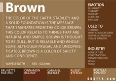 Color Meaning and Psychology of Red, Blue, Green, Yellow, Orange . Brown Things brown color meaning