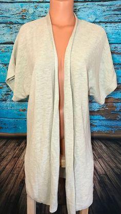 Jones New York Womens Shirt Sleeve Open Draped Cardigan Sweater Ivory Sz M   | eBay